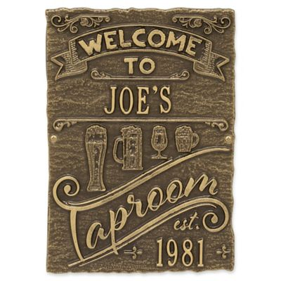 Captivating Whitehall Products Tap Room Brew Pub Plaque In Antique Brass
