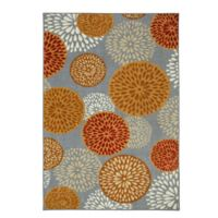 Mohawk Home Foliage Friends 7-Foot 6-Inch x 10-Foot Area Rug in Burnt Orange