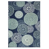 Mohawk Home Foliage Friends 7-Foot 6-Inch x 10-Foot Area Rug in Blue