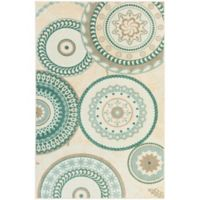 Mohawk Home Forest Suzani 7-Foot 6-Foot x 10-Foot Area Rug in Aqua
