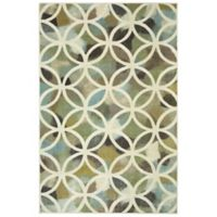 Mohawk Home Random Symmetry 5-Foot x 8-Foot Area Rug in Light Green