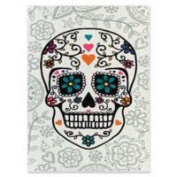 Mohawk Home Sugar Skull Multicolored 5-Foot x 8-Foot Area Rug