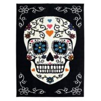 Mohawk Home Sugar Skull Multicolored 7-Foot 6-Inch x 10-Foot Area Rug in Rainbow