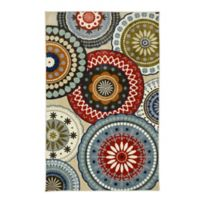 Mohawk Home Suzani Vintage 7-Foot 6-Inch x 10-Foot Area Rug in Blue