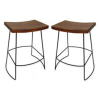 Carolina Cottage Reece 24-Inch Counter Stool in Black/Chestnut