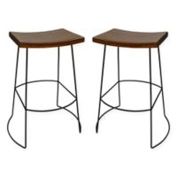 Carolina Cottage Reece 30-Inch Bar Stool in Black/Chestnut