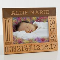 Baby Love Birth Info 5-Inch x 7-Inch Picture Frame