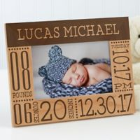 Baby Love Birth Info 4-Inch x 6-Inch Picture Frame