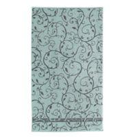 Loft by Loftex Como Wave Bath Towel in Charcoal/Blue