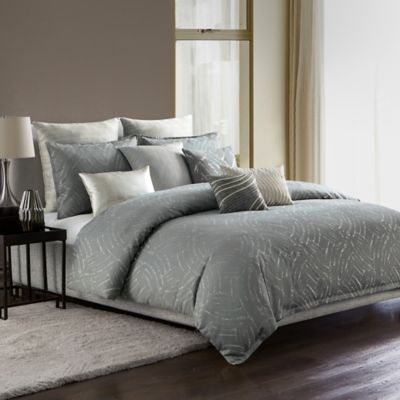 Nice Highline Bedding Co. Azara Full/Queen Duvet Cover Set In Steel/Natural
