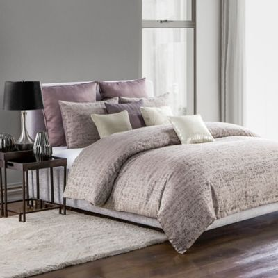 highline bedding co driftwood fullqueen duvet cover set in plum