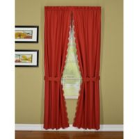 Today's Curtain® Orleans 72-Inch Rod Pocket Window Curtain Panel Pair and Tie Backs in Brick Red