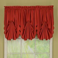 Today's Curtain® Orleans Rod Pocket Fan Insert Window Valance in Brick Red