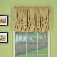 Today's Curtain® Orleans Rod Pocket Fan Insert Window Valance in Linen
