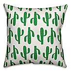 Cactus Throw Pillow in Green