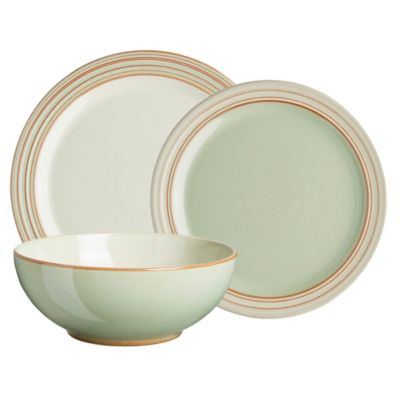 Denby Heritage Orchard 12-Piece Dinnerware Set in Green  sc 1 st  Bed Bath u0026 Beyond : dinnerware green - pezcame.com