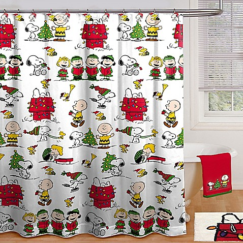 Peanuts Holiday Shower Curtain Collection - Bed Bath & Beyond