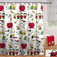 Peanuts Holiday 70-Inch x 72-Inch Shower Curtain with Hooks