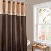 Lush Décor Terra Stripe Shower Curtain in Beige/Brown