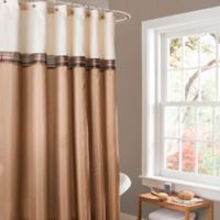 Lush Décor Terra Stripe Shower Curtain in Beige/Ivory