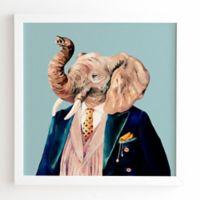Deny Designs Animal Crew 30-Inch x 30-Inch Mr. Elephant Framed Wall Art