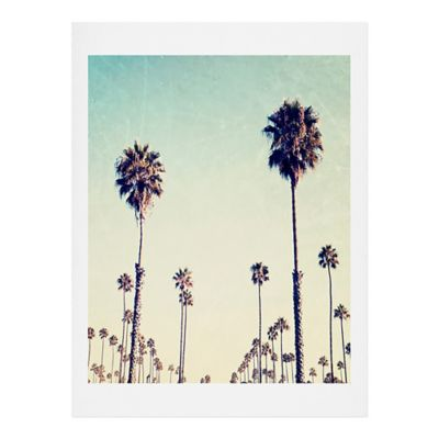 Deny Designs 11 Inch X 13 Inch Bree Madden California Palm Trees Wall Art