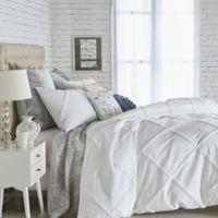 Peri Home Chenille Lattice King Comforter Set in White