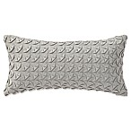 Highline Bedding Co. Adelais Ribbon Breakfast Throw Pillow in Grey