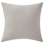 Highline Bedding Co. Adelais Beaded Square Throw Pillow in Grey