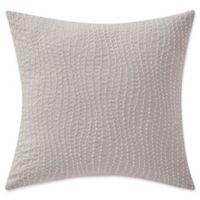 Highline Bedding Co. Adelais Beaded Square Throw Pillow in Grey