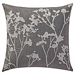 Highline Bedding Co. Adelais Floral Square Throw Pillow in Grey