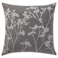 Highline Bedding Co. Adelais Floral Square Throw Pillow in Grey