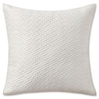 Highline Bedding Co. Adelais Quilted Square Throw Pillow in White