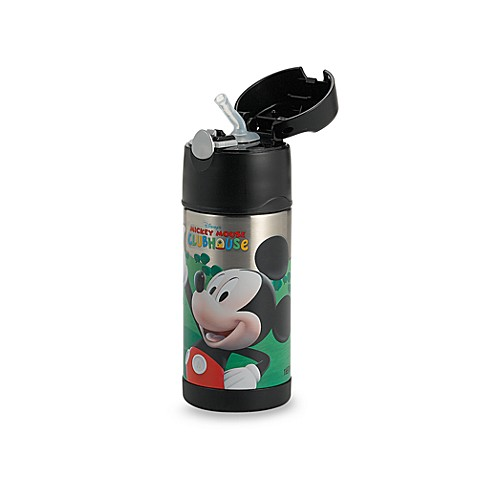 Thermos 174 Funtainer Mickey Mouse 12 Ounce Straw Bottle