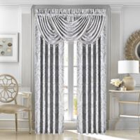 J. Queen New York™ Le Blanc 84-Inch Rod Pocket Window Curtain Panel Pair in Silver
