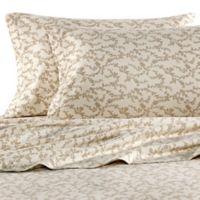 Laura Ashley® Victoria Flannel Queen Sheet Set in Beige