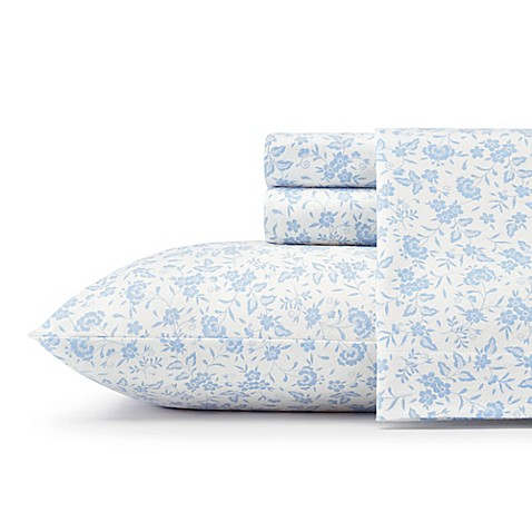Laura Ashley 174 Helena Flannel Sheet Set Bed Bath Amp Beyond