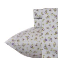 Laura Ashley® Petite Fleur Queen Sheet Set in Lilac