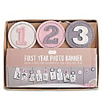 Mud Pie® First Year Photo Banner in Pink