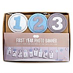 Mud Pie® First Year Photo Banner in Blue