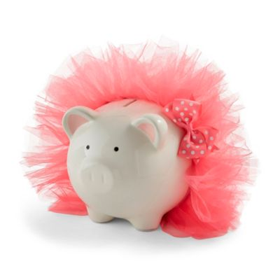 piggy banks u003e mud pie tutu piggy bank in hot pink