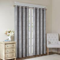 Madison Park Arabella 95-Inch Grommet Top Room Darkening Window Curtain Panel in Grey