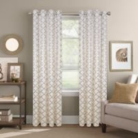 Colordrift Golden Gate 63-Inch Grommet Top Window Curtain Panel in Rose Gold
