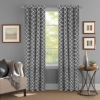 Colordrift Golden Gate 63-Inch Grommet Top Window Curtain Panel in Grey