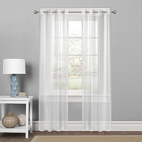 Colordrift Sparkle Sheer Grommet Top Window Curtain Panel