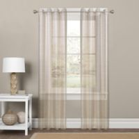 Colordrift Sparkle Sheer 95-Inch Grommet Top Window Curtain Panel in Gold