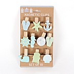 Coastal 10-Piece Magnetic Clip Set