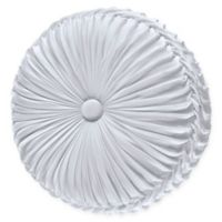 J. Queen New York™ Carmella Tufted Round Throw Pillow in White