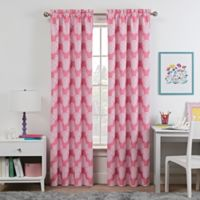 Waverly Kids Airwaves 84-Inch Rod Pocket Room Darkening Window Curtain Panel in Pink