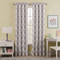 Waverly Kids Airwaves 84-Inch Rod Pocket Room Darkening Window Curtain Panel in Grey